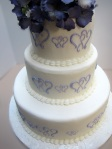 2011 Purple Wedding cake