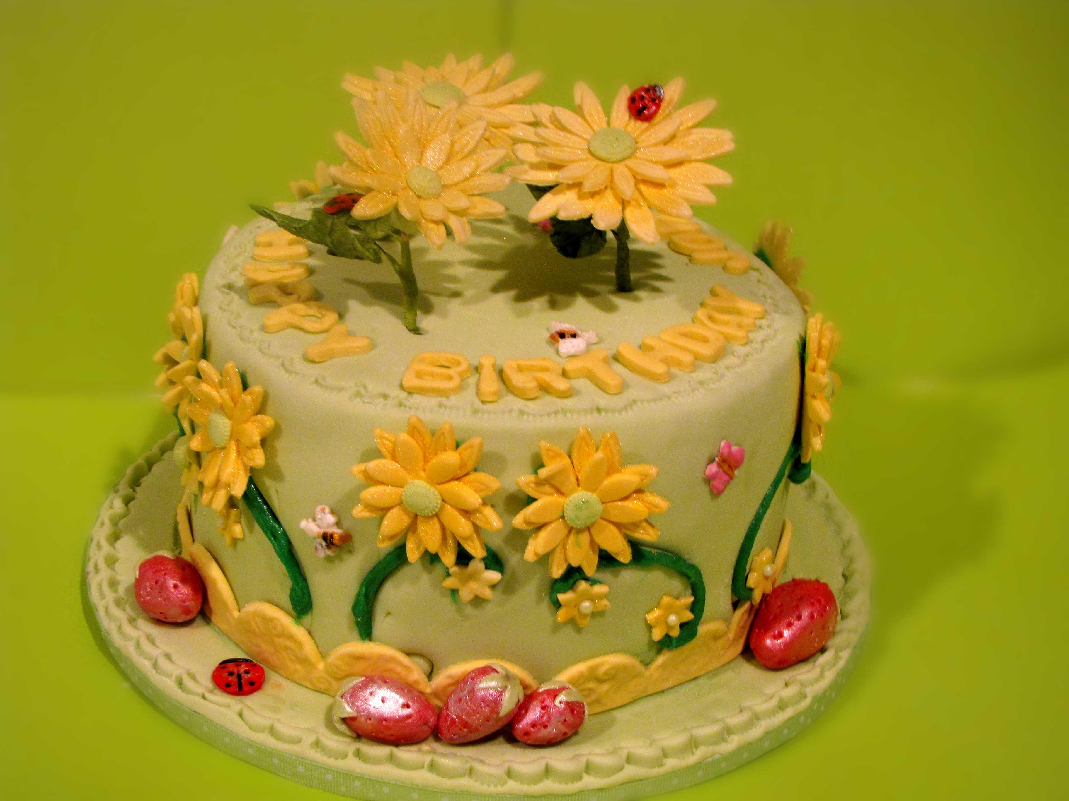 Enjoyable Daisy Birthday Cake Sugar Mamas Funny Birthday Cards Online Elaedamsfinfo