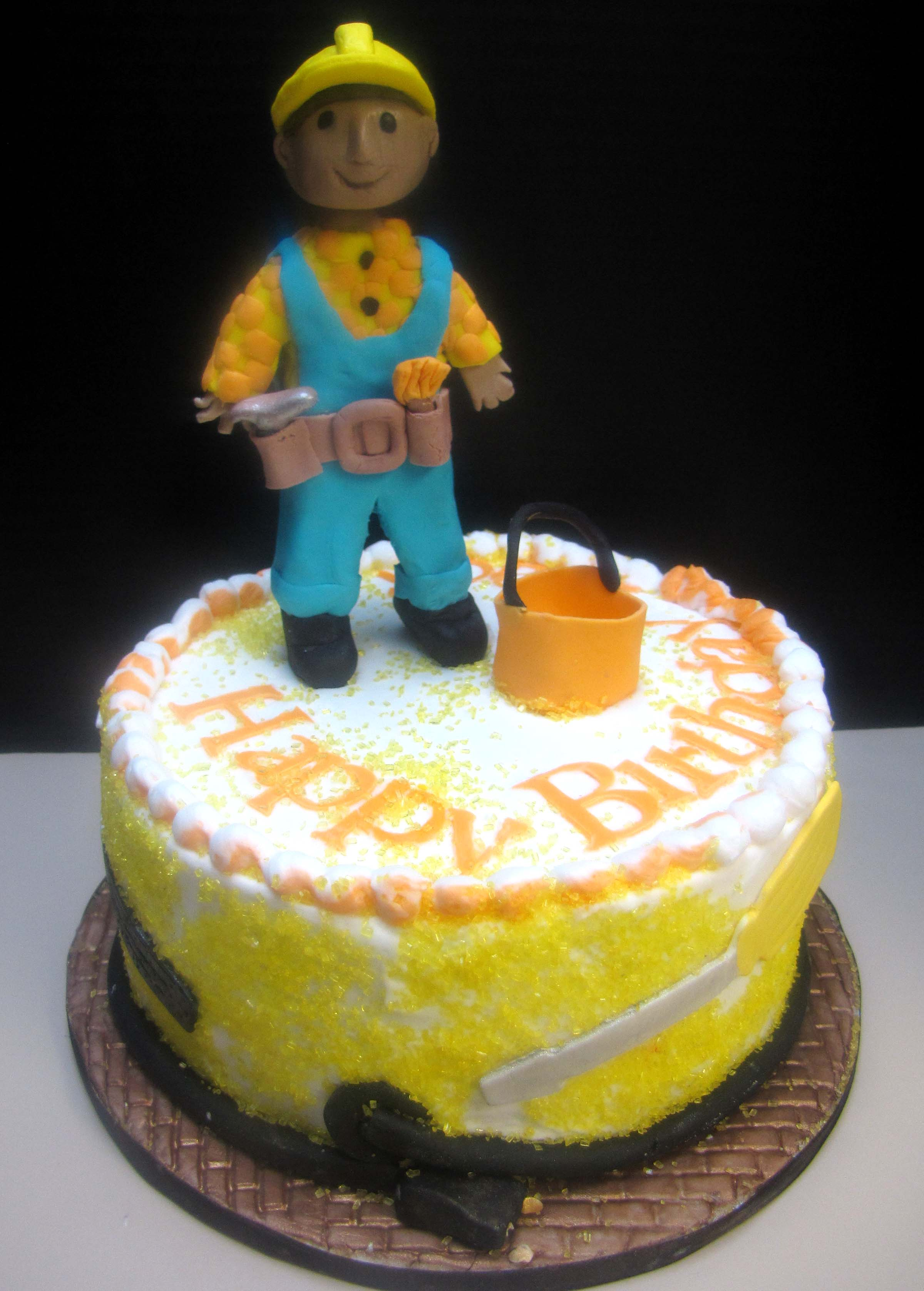 Strange Bob The Builder Cake Sugar Mamas Funny Birthday Cards Online Elaedamsfinfo