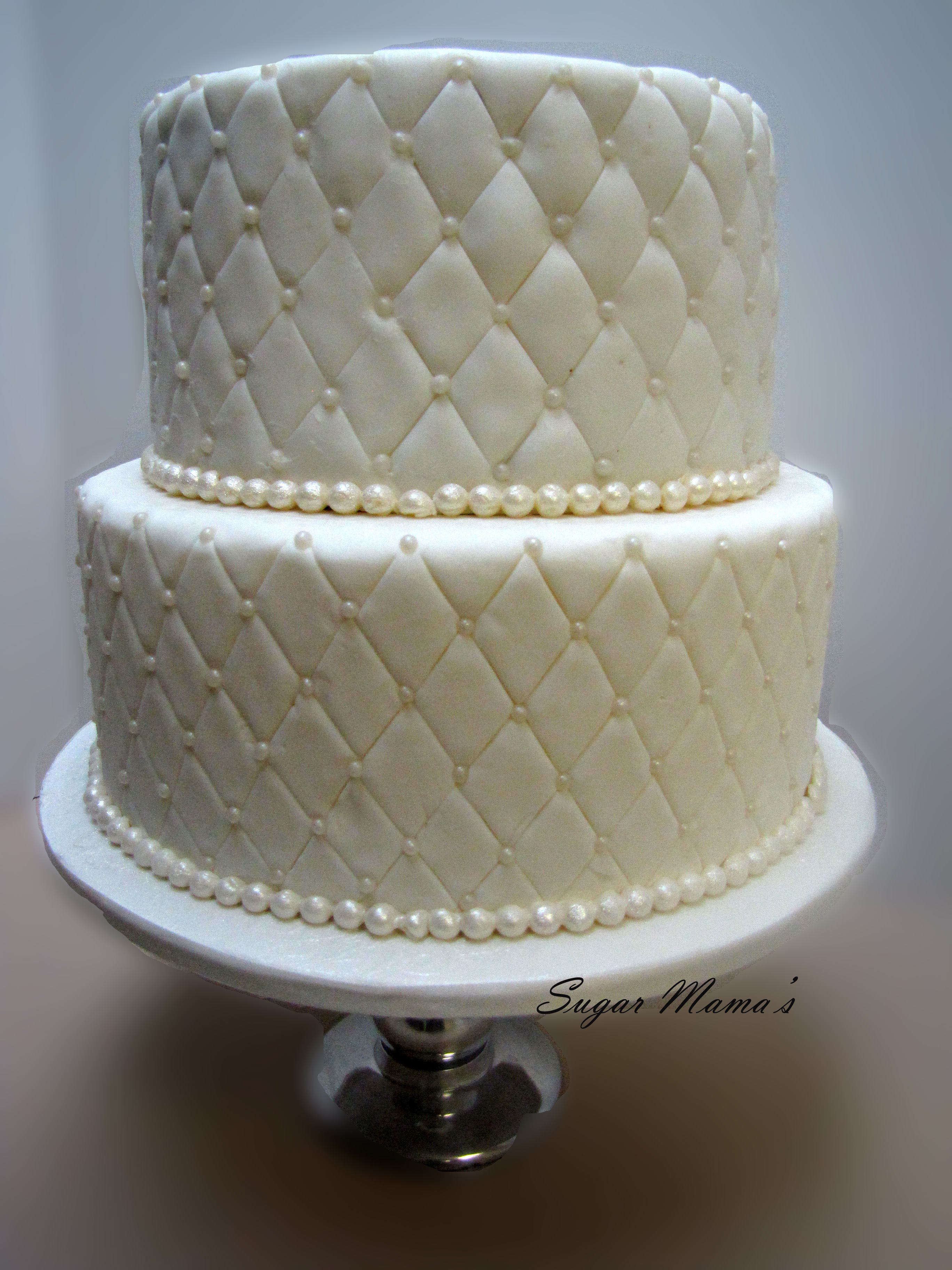 Quilted cakes | Sugar Mama's : quilted wedding cake - Adamdwight.com