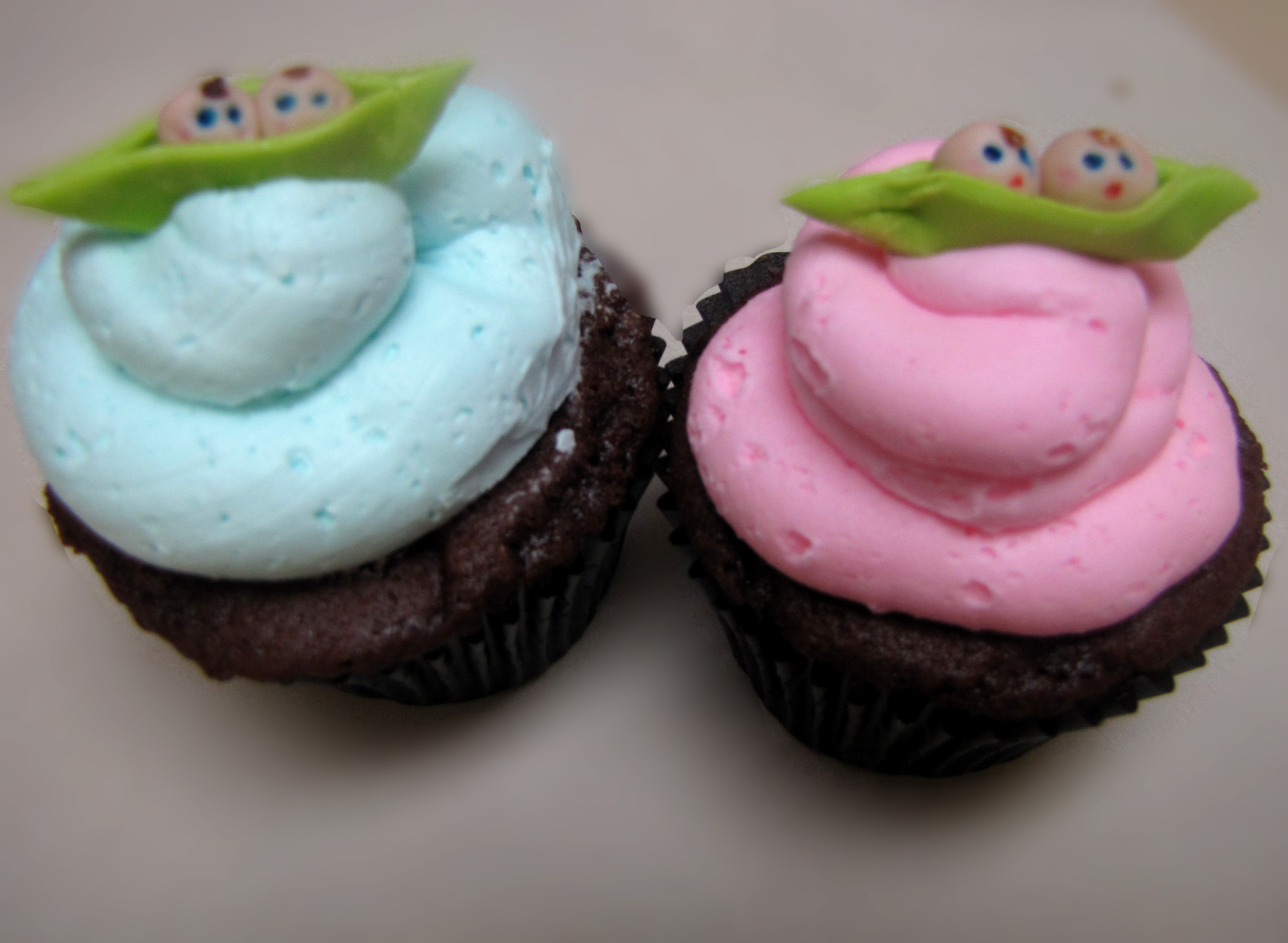 Baby Shower Cupcakes Two Peas In A Pod Cupcakes Auto